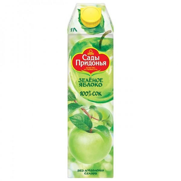"""Сок яблочный из зелёных яблок*12, 1л """"Сады Придонья"""""""