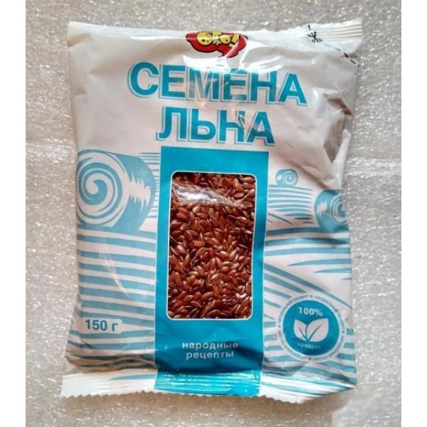 """Семена льна №027 пищевые 'ОГО"""" 150гр 1/10"""