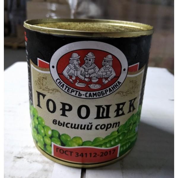 Горошек зелёный ж/б 425 мл 12шт ТМ Скатерть-Самобранка