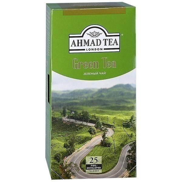 Чай Ахмад Зеленый чай  пакет 25*2гр.(589-012)