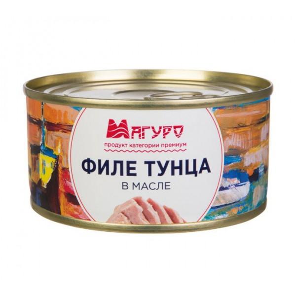 Филе тунца в масле ж/б ключ 185гр/24 ТМ Магуро (4607033685486)