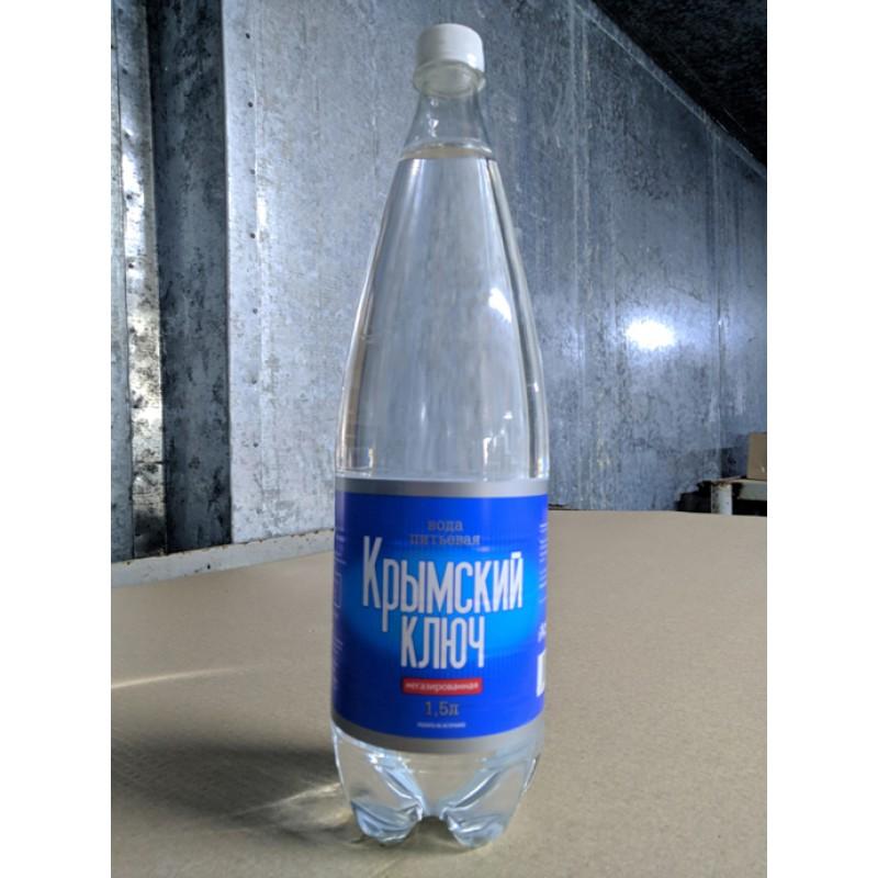 Вода питьевая  негазированная Крымский ключ 1,5 литров