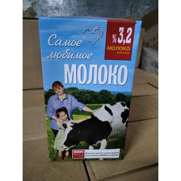 """Молоко  3,2% 950 гр ТБА ультрапастеризованное """"Самое Любимое"""""""