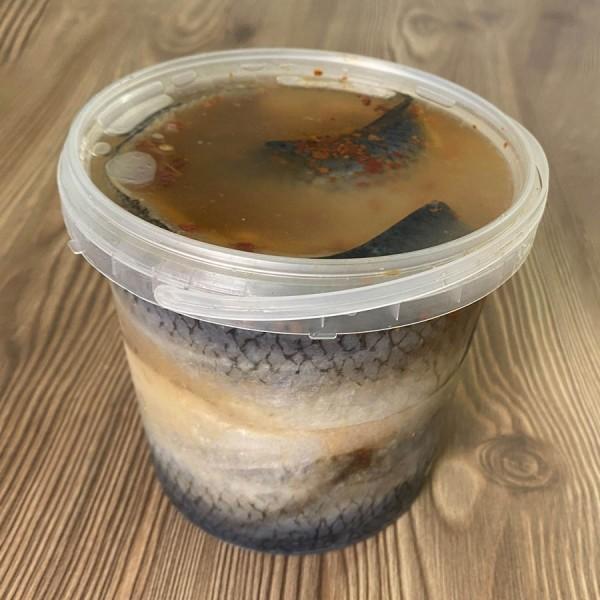 Филе сельди сол. в укс-масл.0.7 кг ведро ,шт