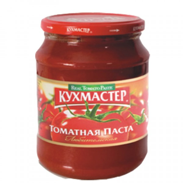 Томатная паста 480гр./8шт Кухмастер