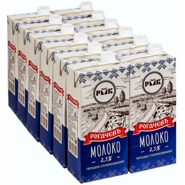 Молоко стер. Рогачев 3,2% т/пак 1л. *12шт. Беларуссия