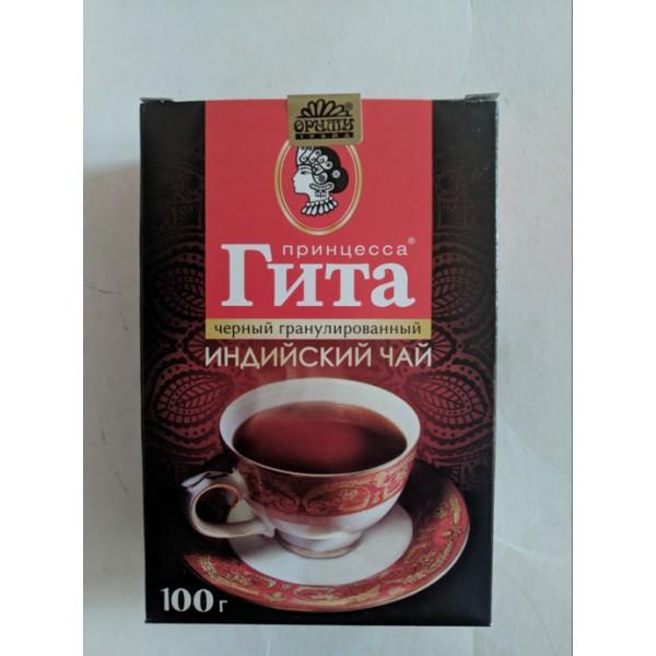 Чай  Принцесса ГИТА Медиум 100 гр*14шт гран. черн Н