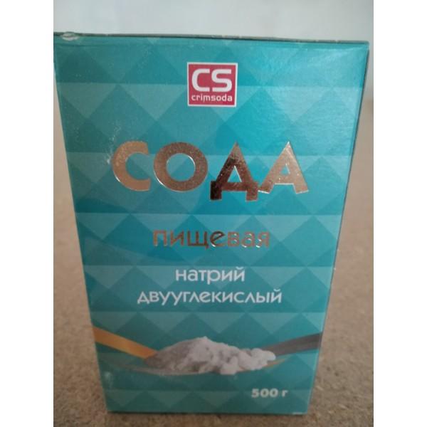 Сода пищевая 500гр.(Крымская) карт/уп 1/30