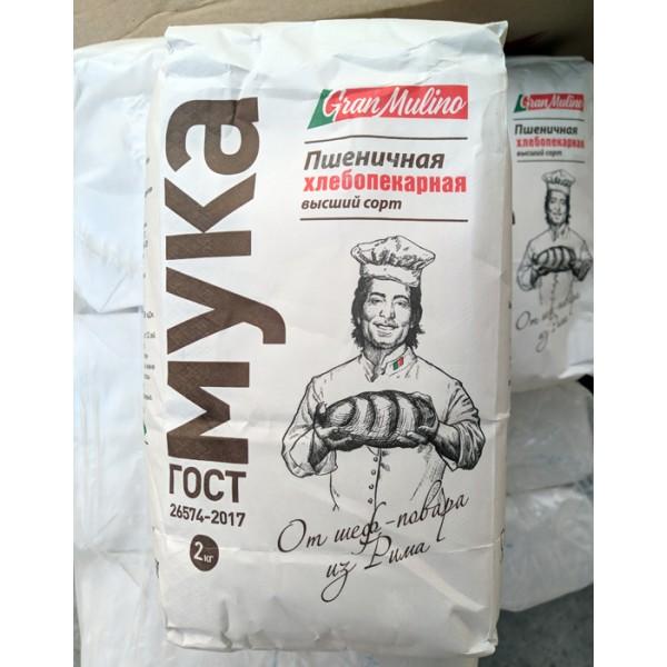ТМ Granmulino Мука пшеничная в/с 1кг/12