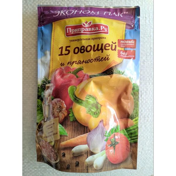 Приправа универсальная 15 овощей и пряностей 180г 15шт ТМ Приправка
